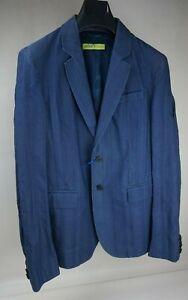 Versace Jeans Blue Jean Canvas Jacket Blazer Men's Size 48 / 38 US