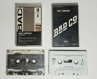 Lot of 2 BAD COMPANY Vintage Audio Cassette Tapes 10 to 6 Self Titled