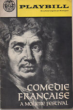1970 Playbill COMEDIE FRANCAISE A Moliere Festival