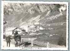 Val d'Isère, à dos de cheval, juillet 33  Vintage silver print  Tirage ar