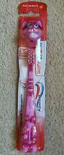Kid's Aquafresh Pink Bunny Tooth Brush Little Teeth 3-5 Years