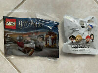 Lot of 2 Harry Potter Hedwig Lego Set And 1 Mystery Christmas Hallmark Ornament