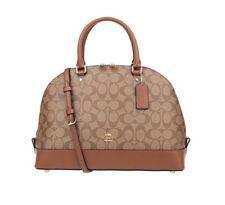 NWT Coach F58287 F27584 Signature Sierra Satchel Bag Leather Handbag in Saddle