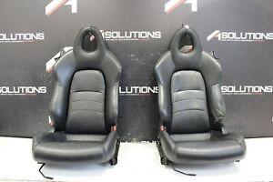 00-09 Honda S2000 BLACK Leather Seats OEM AP1 AP2 S2K