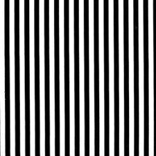 Nutex Black and White Stripe Fabric - Per 1/4 Metre