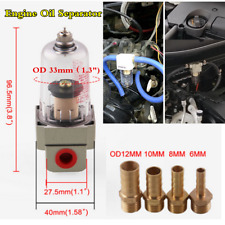 Car Engine Oil Separator Catch Reservoir Tank Crankcase Impurities Out Filter