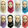 Kids Children Hijab Girls Scarf Muslim islamic Headscarf Amira Prayer Arab Caps