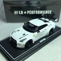 1/64 MINI GT-R LB WORKS Nissan GT-R R35 GT Wing Gloss White Ltd 500 pcs