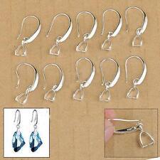 20Pcs Silver Pinch Connector Earwire Earring Bale Hook Findings Jewelry Making