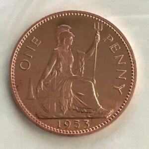 1953 ELIZABETH II PROOF 1 PENNY Bronze • 9.45 g • ⌀ 30.8 mm KM# 883, Sp# 4154