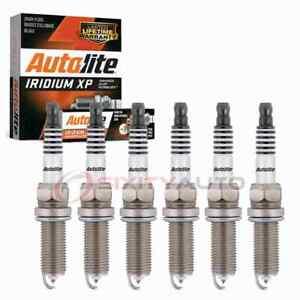 6 pc Autolite Iridium XP Spark Plugs for 2008-2013 Infiniti G37 3.7L V6 dw
