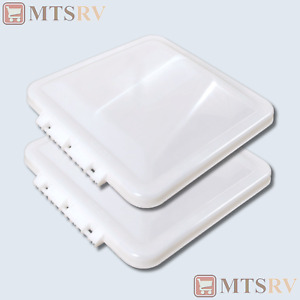 """Ventline 14""""x14"""" Wedge Shaped Repl. Vent Cover - WHITE - 2-PACK - Trailer RV NEW"""