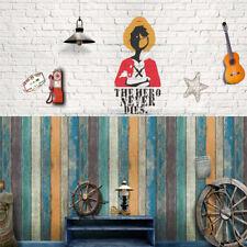 1PC Retro Wood Stripe Pattern Faux Effect Mural Wall Paper PVC Removable Sticker