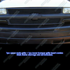 Fits 1999-2002 Chevy Silverado/00-06 Suburban/Tahoe Black Billet Grille Pack