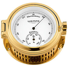 Wempe Hygro- / Thermometer Cup Messing Comfortmeter Hygrometer Schiff Boot Yacht