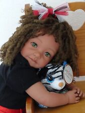 "Reborn 22"" Ethnic/Biracial/AA/Hispanic toddler girl doll ""Zebra Glam Daniella"""