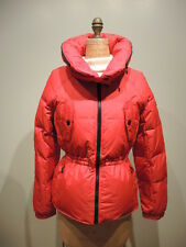 DKNY Pillow Hooded Quilted Down Coat Size M, Red was $260