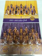 Los Angeles Lakers cheerleaders LAKER GIRLS NBA basketball photo card LOT X2 pix