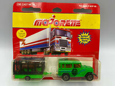 Majorette Toyota With Animal Cage Trailer & Lion Load Diecast New On Card