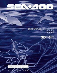 New Sea-Doo 3D RFI Supplement Shop Service Repair Manual 219100199 Bound Book