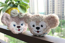 New Disney Duffy & Shellie May Bear Plush Toy Coin Bag Case Wallet 2PCS