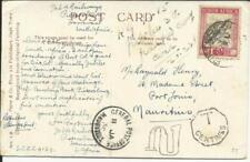 South Africa SEMI-POSTAL SG#51(single frank) PIETERSBURG 29/XII/37 postcard