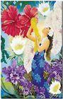 "Vintage Travel Poster *FRAMED* CANVAS PRINT ~ Hawaii Girl flowers 16""x12"""