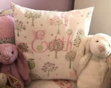 "Personalised Embroidered Laura Ashley Esme Fabric 16"" Cushion Cover"