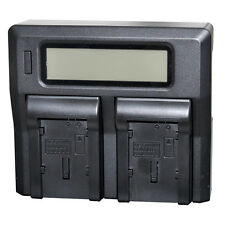 LCD Quick Dual Battery Charger For Canon BP-819 BP-820 BP-827 BP-828 Camcorder