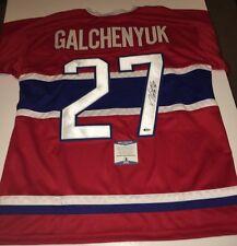 Alex Galchenyuk Capitals Auto Autographed XL Hockey Jersey Beckett BAS (JSA PSA)