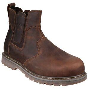Amblers Mens Safety Boots FS165 Crazy Horse Dealer Chelsea  Steel Toe Cap UK4-13