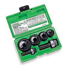 GREENLEE Hole Punch Set, 10 Piece,10,12 ga. Steel, 7235BB