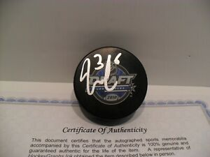 Jack Campbell Autographed Signed 2010 NHL Draft Puck COA Los Angeles Kings