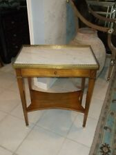 Vintage Grosfeld House One drawer marble top Table
