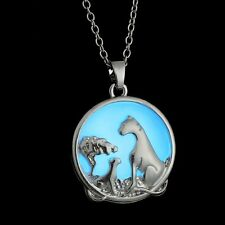 Fashion Silver Animal Family Glow In The Dark Pendant Necklace Chain Jewelry Hot