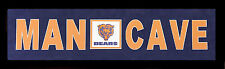 CHICAGO BEARS ( MAN CAVE ) SUEDE MATTE IN TEAM COLORS FRAMED 10X32