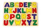 """Puzzle a incastro in legno """"Alfabeto"""", cm 32x22"""