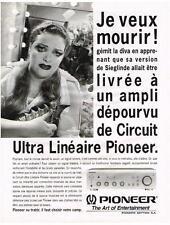 PUBLICITE ADVERTISING   1993   PIONEER  ampli