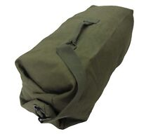 Green Military Duffel Bag - Shoulder Sack Stuff Army Cadet Military Cotton New