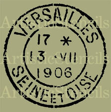STENCIL Distressed French Versailles Postage Stamp  10x10