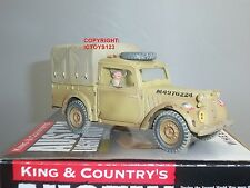 KING AND COUNTRY EA56 EIGHTH ARMY AUSTIN LIGHT UTILITY MILITARY TRUCK + DRIVER