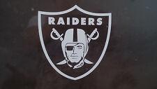 Oakland Raiders 5 x 5 White Car Decal Sticker