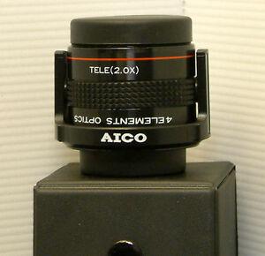 Aico 2in1 Telephoto / Wide Angle Quick flip Lens for Camcorders - AIA-LA-010
