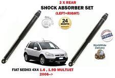 für FIAT SEDICI 1.6 VVT 1.9D Multijet 2006->2 x Hinterer Stoßdämpfer Shocker Set