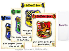 Coco&Bo 4 x Hogwarts Houses Signs - Harry Potter Theme Room Decorations