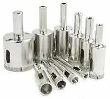 Diamond Drill Bits, 10 Piece – Glass, Tile, Marble and Ceramic Hollow Core Extra