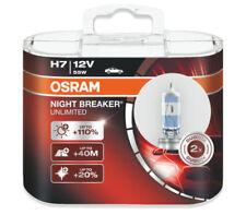COPPIA di originali di OSRAM H7 Interruttore notte 64210NBU-HCB illimitata HEADLIGHT Bulbs