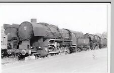 Poland; Steam Locomotive Ty43-123 At Wolsztyn Depot, 31-5-04 PC Size BW Photo