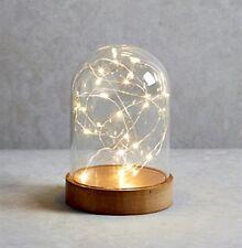 LUSSO LED Vetro Campana di vetro cupola con Stringa Luce Lampada Da Tavolo Decorazione di Natale