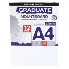 12 Sheets Daler Rowney A4 Ice White Mount Board Mounting Backing Picture Frame